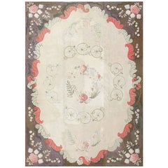 Room Sized Antique American Hooked Rug. Size: 9 ft 4 in x 13 ft 2 in