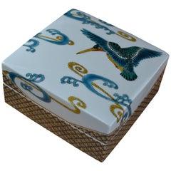 Porcelain Lidded Decorative Box by Yoshiaki Yamada