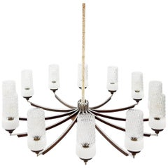 Large Late 1950s, Early 1960s Italian Chandelier