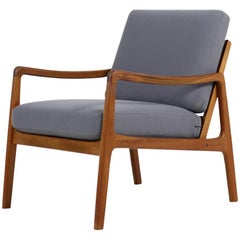 1960s Ole Wanscher Teak Easy Lounge Chair Mod. 109 France & Son Danish Modern