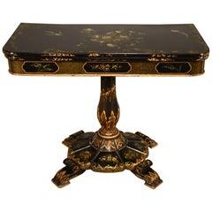 Superb William IV Japanned Card Table