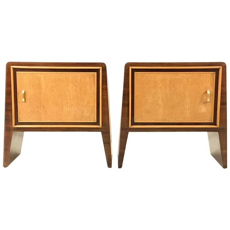 Pair of Stunning Nightstands by Guglielmo Ulrich, Italy, 1930s-1940s