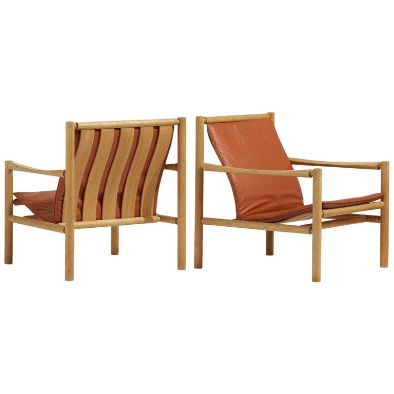 Pair of Lounge Chairs by Jorgen Nilsson for J.H. Johansens Eftf For Sale