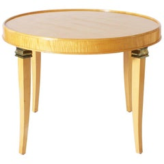 Round Bleached Merisier Table, circa 1938