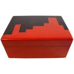 Art Deco Lacquer Box Casino Gaming Poker Chip Set