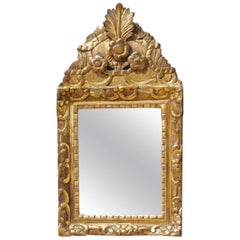 Petite French Water Gilt Mirror