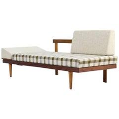 1950s Norwegian Teak & Beechwood Extendable Daybed Svane Møbler Norway Sofa #1
