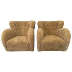Pair of Flemming Lassen Attributed Lounge Chairs, 1940s