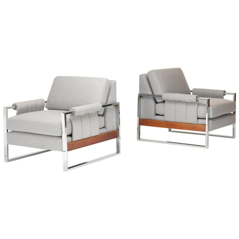 Pair of American Lounge Chairs For Sale