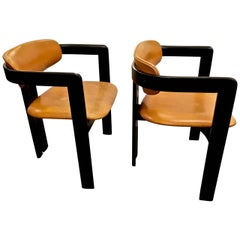 Pair Afra and Tobia Scarpa Pigreco Chairs