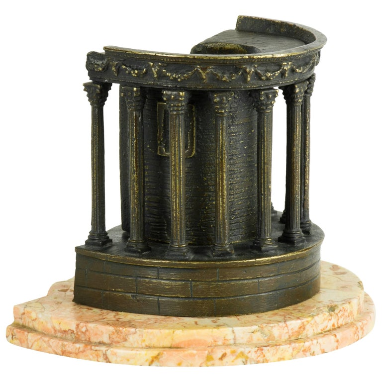 Scarce Bronze Grand Tour Architectural Model of the Temple of Sibyl, Tivoli