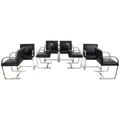 Flat Bar Brno Chairs by Mies van der Rohe for Knoll