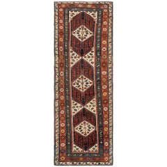 Antique Caucasian Kazak Runner Rug