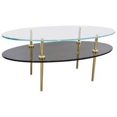 Custom Jill-Tiered Glass Coffee Table