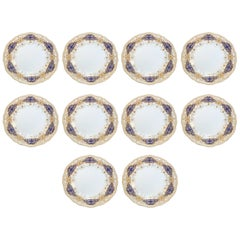 Set of Gilt Dinner Plates