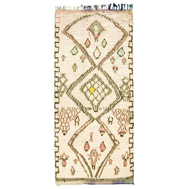 Mid-20th Century Moroccan Beni Ouarain Carpet