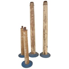 Set of Four Wood Architectural Wood Columns