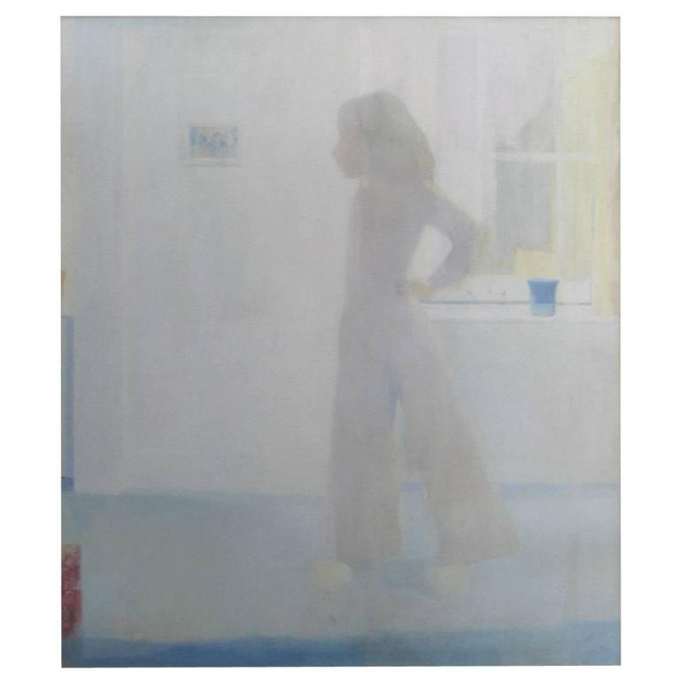 """60"""" """"Nude in a Room"""" Oil Painting by Wasserman"""