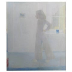 "60"" ""Nude in a Room"" Oil Painting by Wasserman"