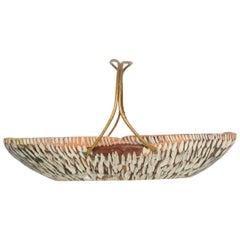 Macabo Cusano Aldo Tura Wood Tray Basket