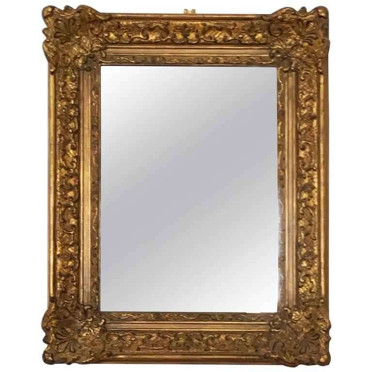 Early 20th Century Baroque Style, Century Style Giltwood Carved Mirror For Sale