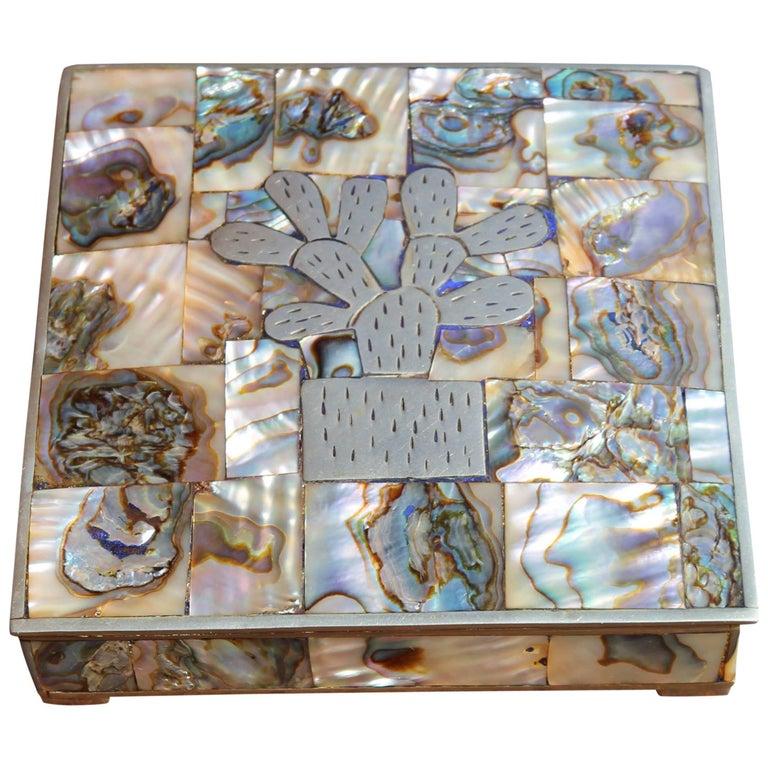 Alpaca Silver and Abalone Box