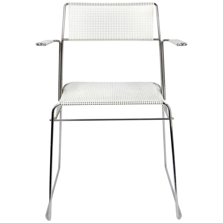 Mathieu Matégot Inspired Mid-Century Perforated Metal Armchair 1