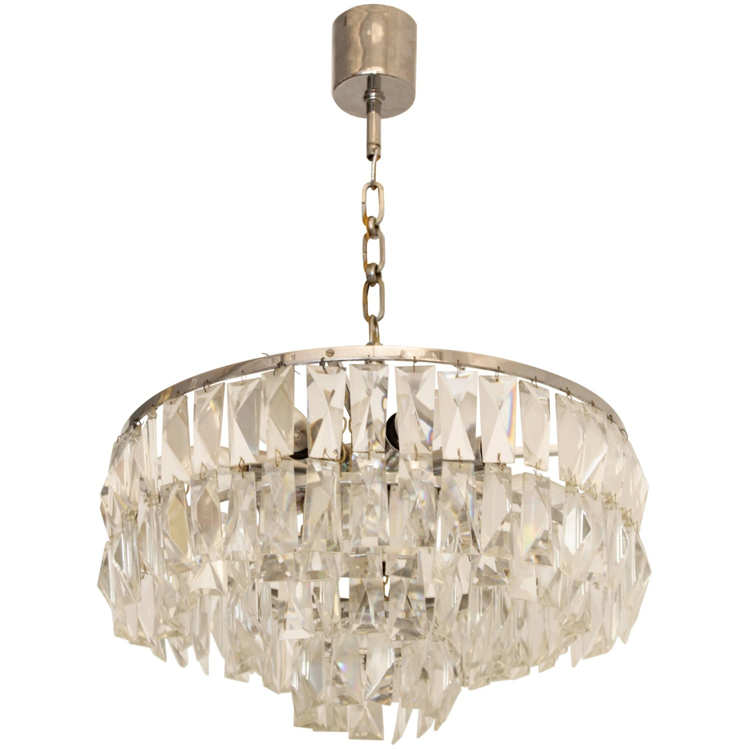Crystal Drum Chandelier by Bakalowits and Sohne For Sale at 1stdibs