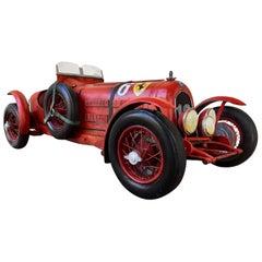 "Large Painted Sculpture ""1933 Scuderia Ferrari Monza"" Alfa Romeo Paul Jacobsen"