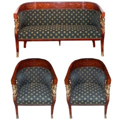 Set of Empire Chairs and Loveseat