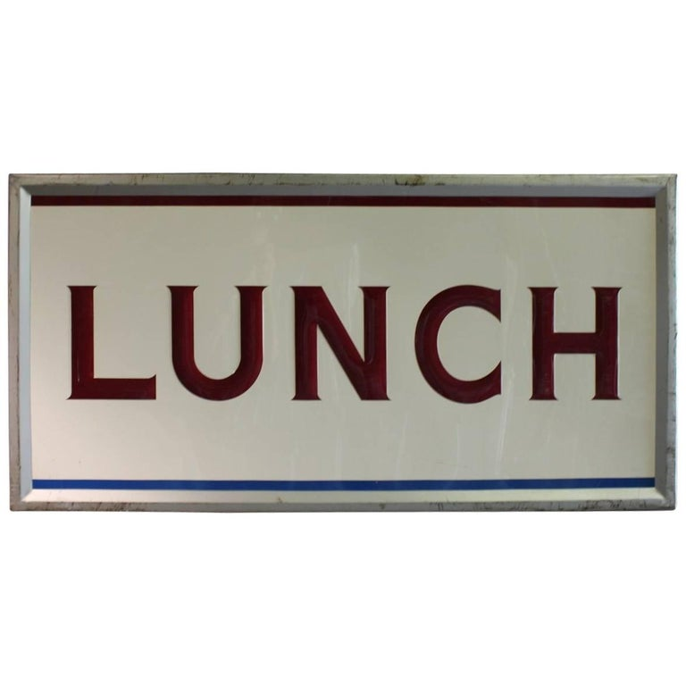 1950s Embossed Metal Lunch Sign