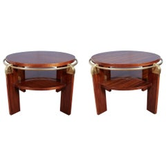 Pair or Single French Modern Gueridon, Low Side or Coffee Tables, Louis Sognot