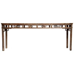 Qing Dynasty Altar Table with Rounded Legs and Original Lacquer