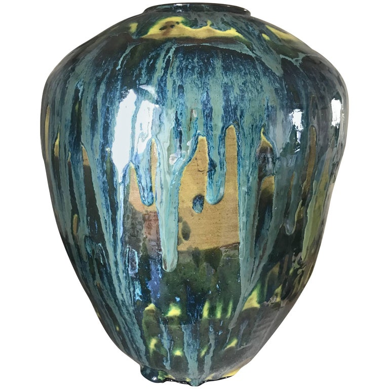 Handmade Mordern, Custom Glazed Ceramic Vase #3, Vessel, Decorative Object
