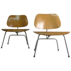 Pair of Vintage Eames LCM Chairs from the 1950s, Herman Miller Production