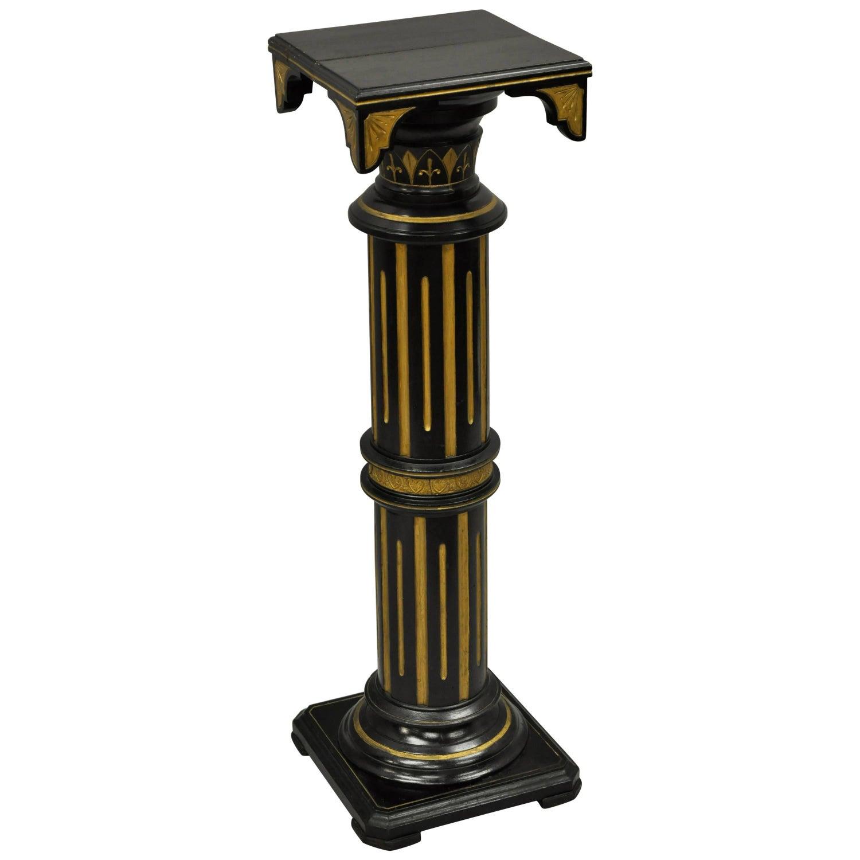 Victorian aesthetic column pedestal plant stand black and gold victorian aesthetic column pedestal plant stand black and gold herter brothers for sale at 1stdibs reviewsmspy