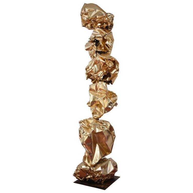 """Robert Sestok """"the New Gold Standard"""" Sculpture"""
