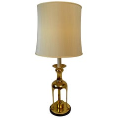 Asian Modern Brass Lamp Attributed to Chapman