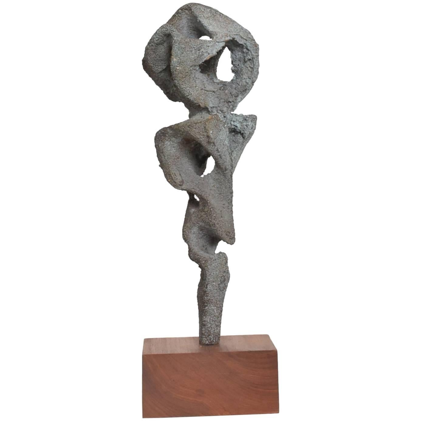 Myrna M Nobile Abstract Bronze Sculpture #5 Mid-Century Modern