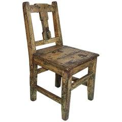 19th Century Original Painted Pueblo Childs Chair