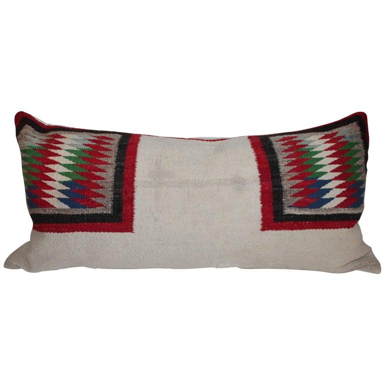 Navajo Indian Weaving Saddle Blanket Bolster Pillow