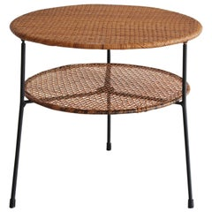 Danny Ho Fong Rattan and Iron Table