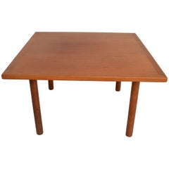 Hans Wegner Teak Oak Coffee Table Midcentury Danish Modern