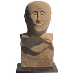 Carved Stone Bust