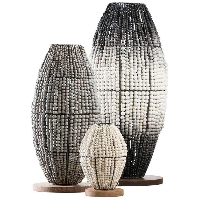 klaylife ombre handmade clay beaded floor lamp, 21st Century For Sale