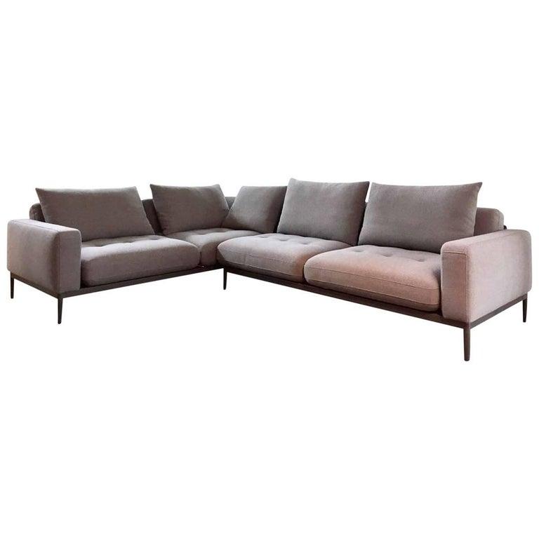 l sofa tira by manufacturer rolf benz in metal finished. Black Bedroom Furniture Sets. Home Design Ideas