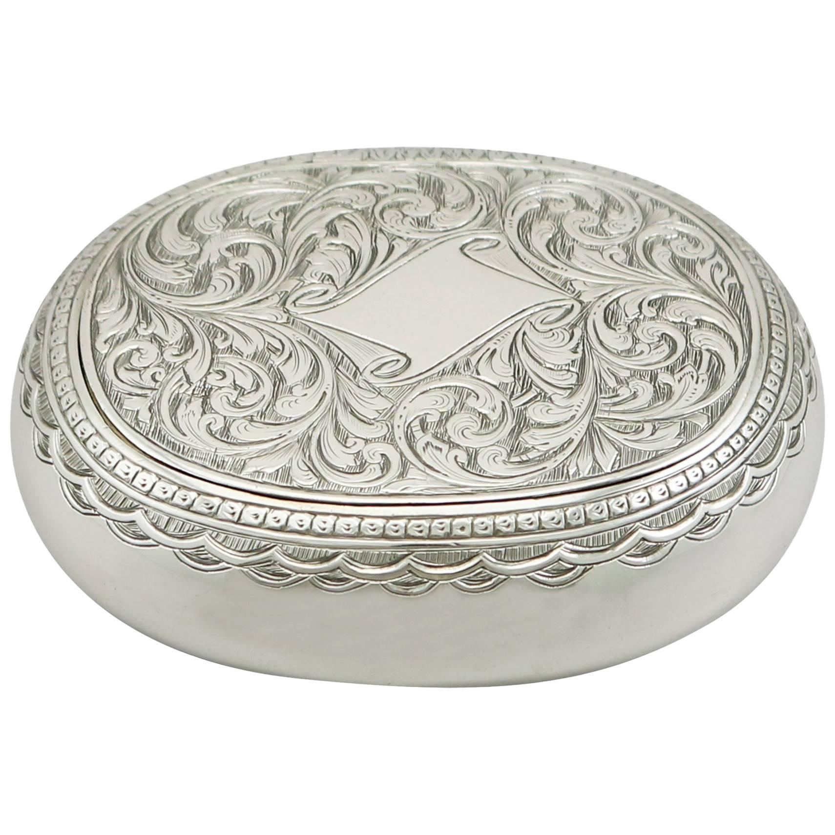 Delightful 1890s Victorian Sterling Silver Tobacco Box