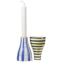 Pair of Vases/ Candlesticks Designed by Stig Lindberg, Sweden, 1950s