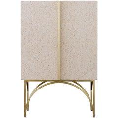 Dorsoduro Brass and Terrazzo Cabinet
