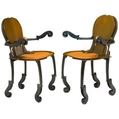 Pair of Armchairs, Signed Arman